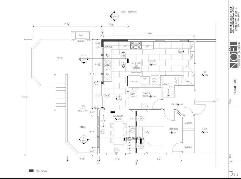 Architectural design noel design build for Floor plan drafting services