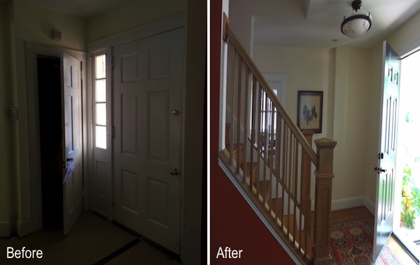 before and after front doorway