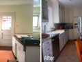 before and after kitchen sink