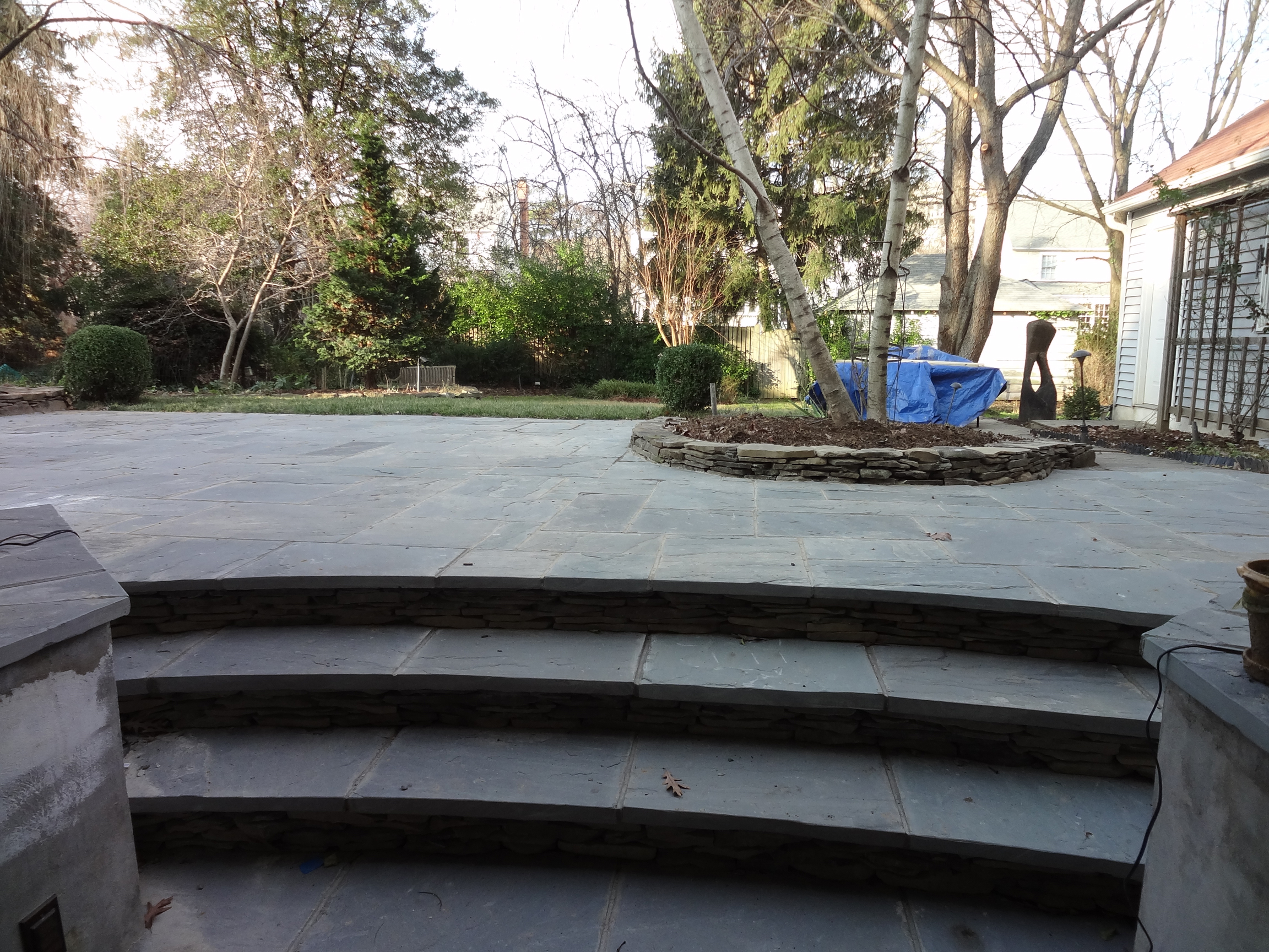 Montgomery County MD stone patio backyard hardscape