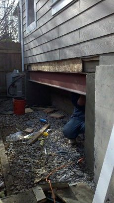 DC Structural Repair During Construction Exterior