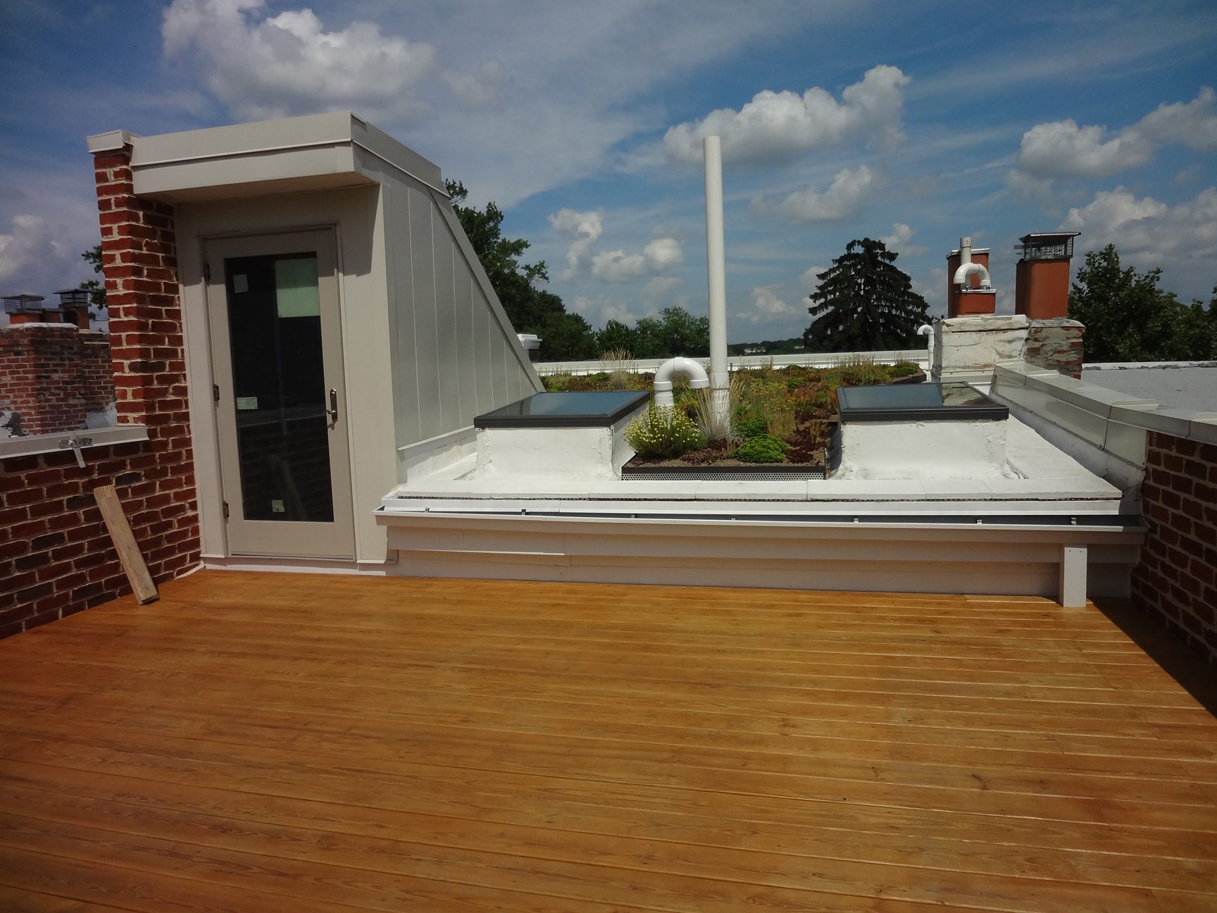 DC building of Green Roof Deck
