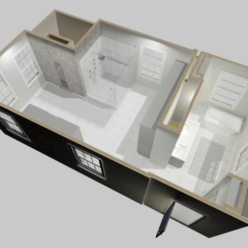 design build home renovations 3d model rendering